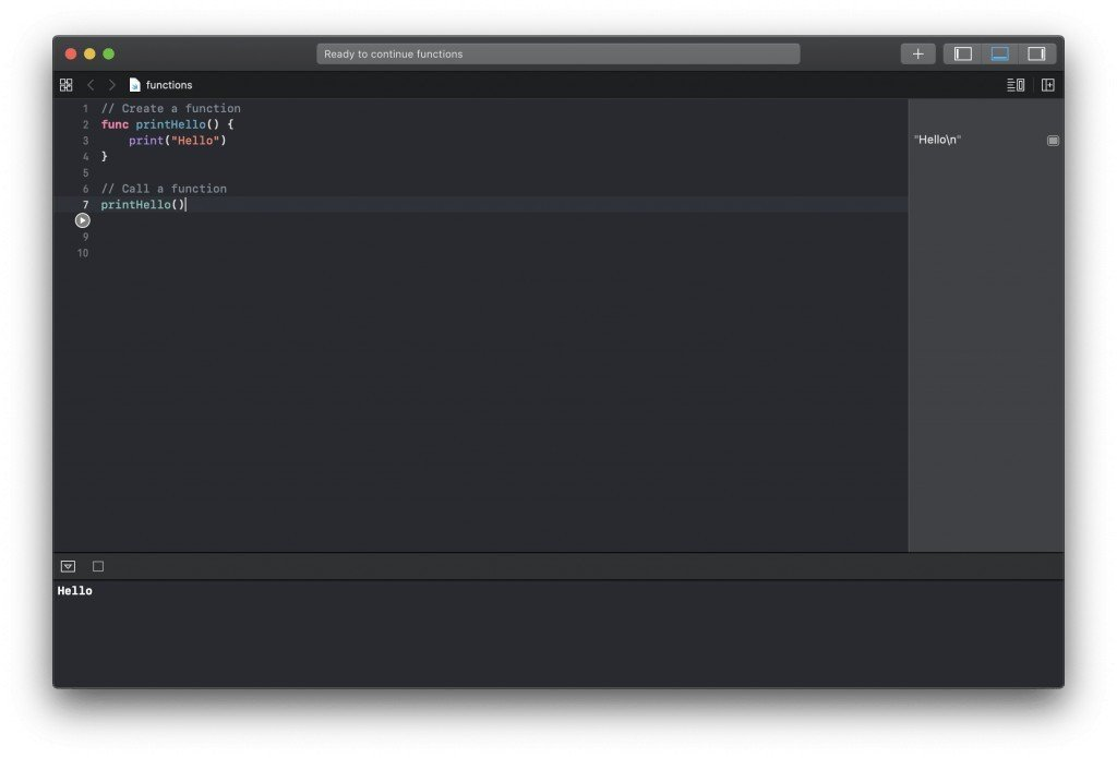 Create new function in Swift