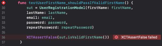 Failing Unit Test in Swift