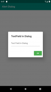 AlertDialog with a TextField example in Flutter